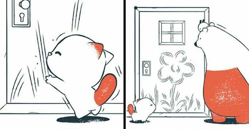 Забавные комиксы без слов с неожиданным, а иногда и мрачным финалом (22фото)