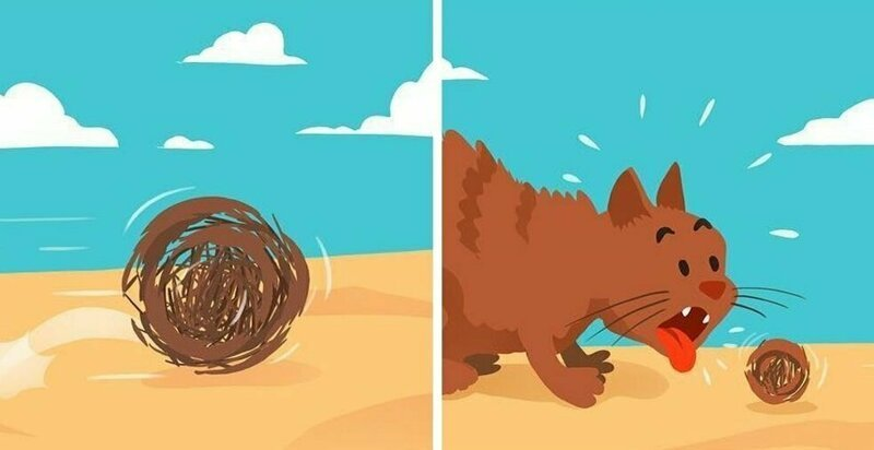 20 комиксов от казанского иллюстратора, в которых всё вечно переворачивается с ног на голову (21фото)