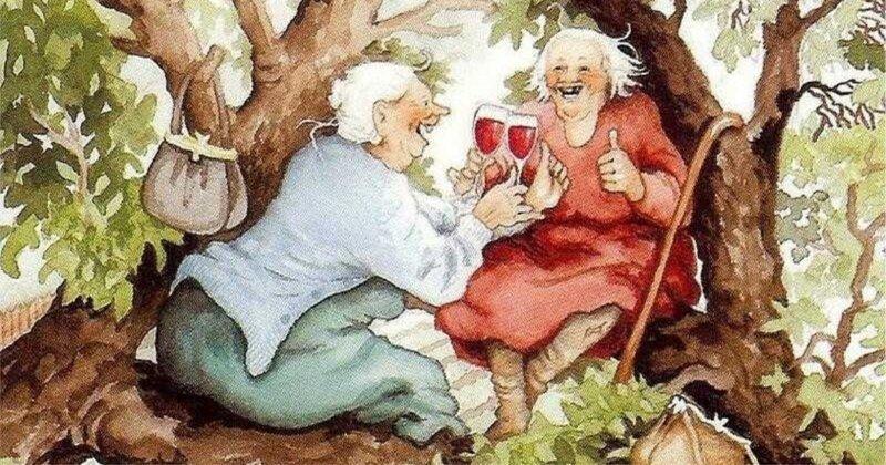 Старушки-авантюристки в картинах финской художницы научат любить жизнь в любом возрасте (28фото)