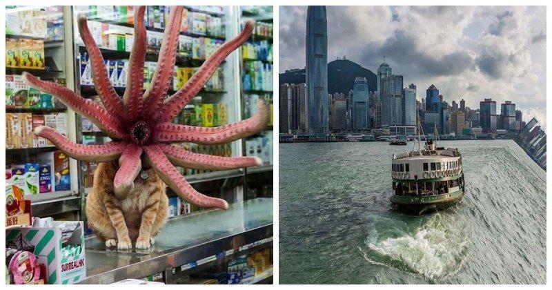Этот художник в своих сюрреалистических фотографиях показывает Гонконг таким, каким его знают немногие (31фото)
