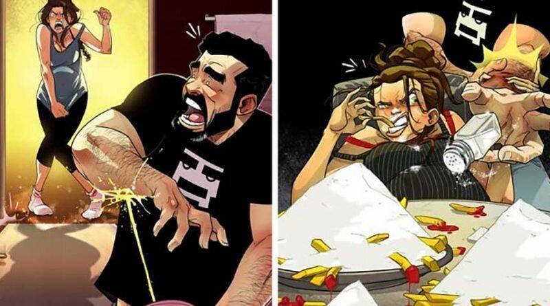 10 комиксов израильского художника о том, через что проходят они с женой, пока ждут ребёнка (12фото)