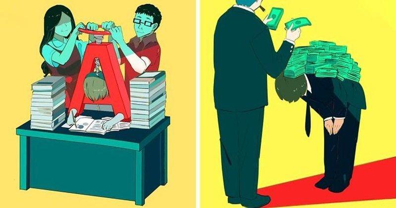 40 мрачных иллюстраций о том, что не так с нашим обществом (41фото)