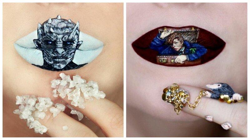 Живопись на губах: потрясающие работы визажиста Райан Келли (31фото)