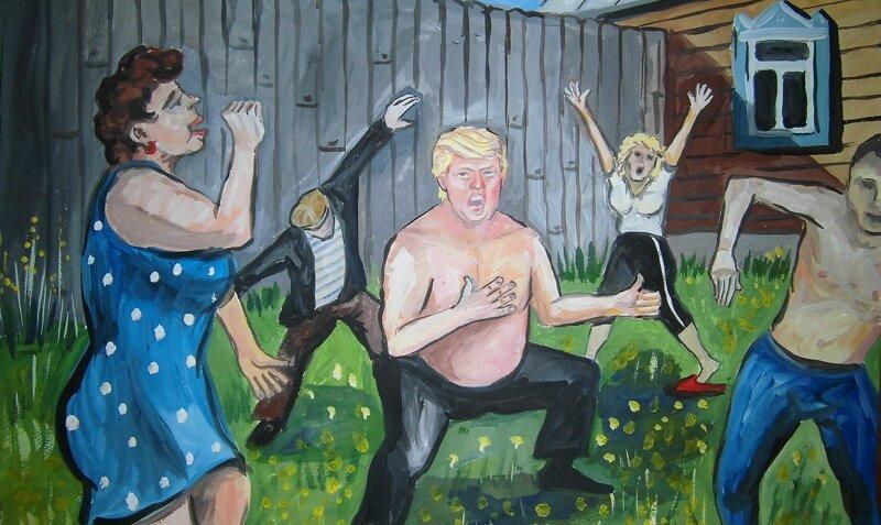 Если бы Дональд Трамп жил в России: творения ульяновского художника (6фото)
