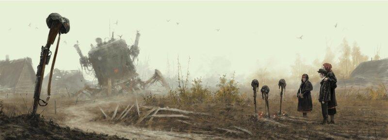 Художник Якуб Розальски и его снежный стимпанк (22фото)