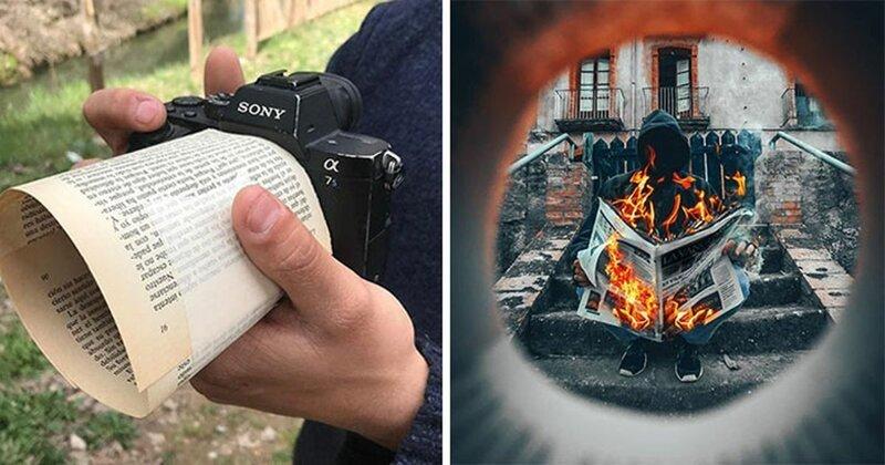 Уловки фотографа: когда дополнительный реквизит всегда под рукой (30фото)