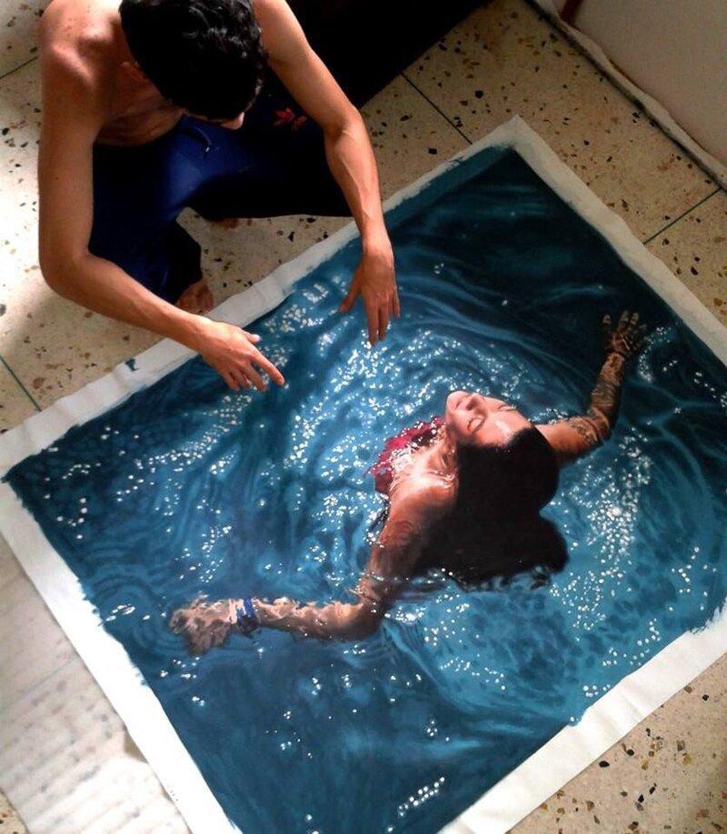 Густаво Сильва Нуньес – художник-гиперреалист (5фото)