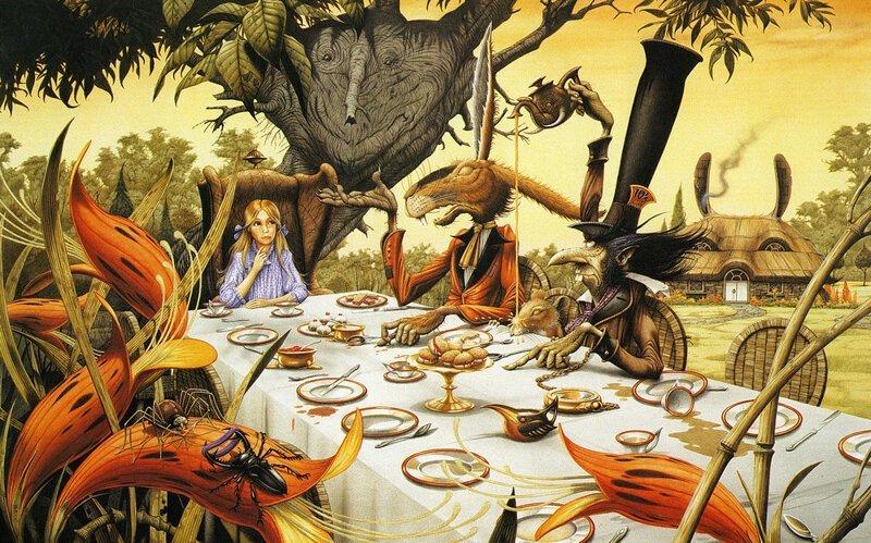 """Причудливые иллюстрации к """"Алисе в стране чудес"""",""""Властелину колец"""" и рок-альбомам от Родни Мэттьюза (59фото)"""