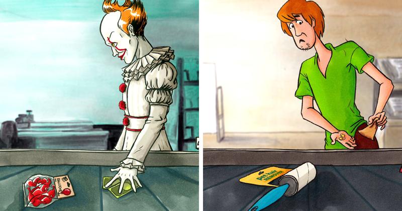 Ничто человеческое не чуждо: 23 популярных героя в супермаркете (24фото)