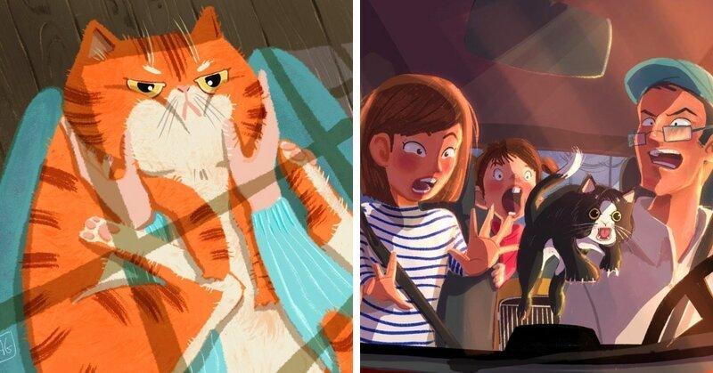 20 работ итальянской художницы, чьи рисунки котиков — это волшебство и пушистость в одном флаконе (22фото)