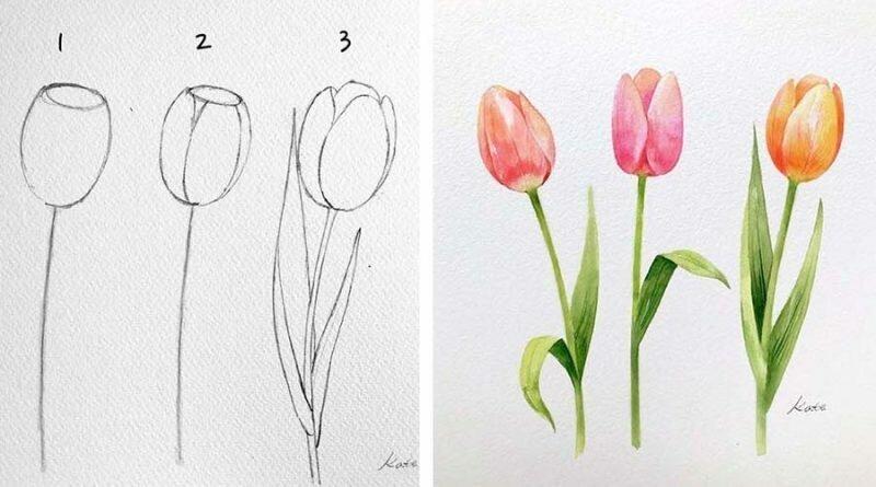 Корейская художница показала, как нарисовать идеальные цветы в 3 простых шага (18фото)
