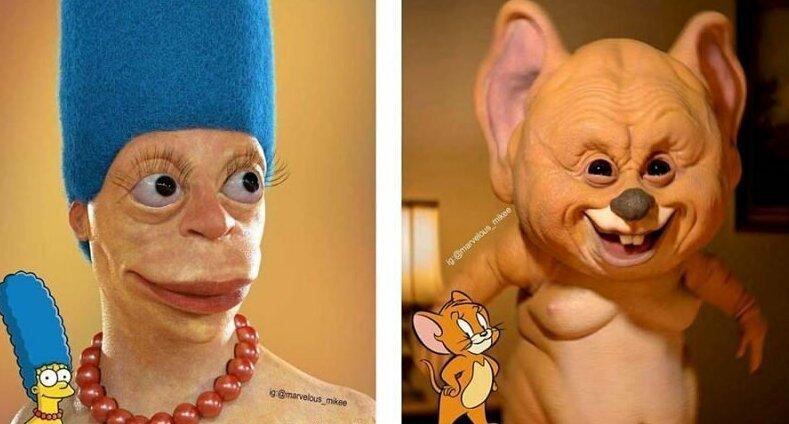 Новые жуткие реалистичные мультяшные персонажи от Мигеля Васкеса (18фото)