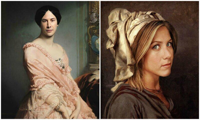 Современное искусство оно такое: классические портреты с лицами знаменитостей (35фото)