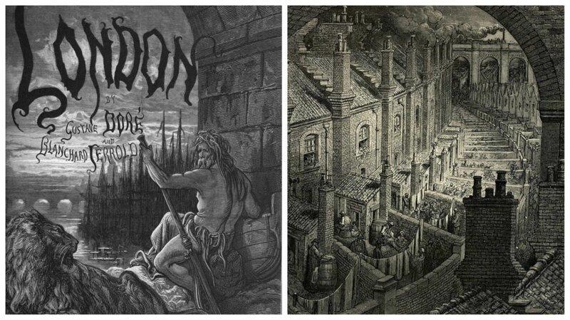 Викторианский Лондон в гравюрах Гюстава Доре (17фото)