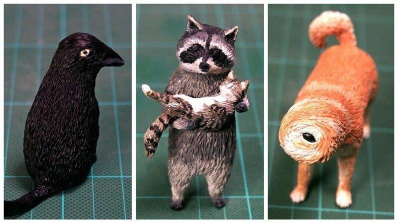 Художник создает фигурки животных по забавным интернет-мемам (41фото)