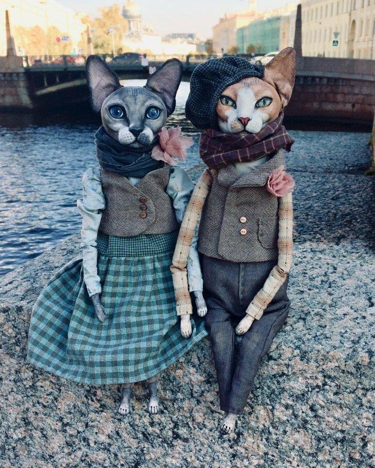 Реалистичные куклы-кошки от петербургской художницы Елены Алехиной! (21фото)