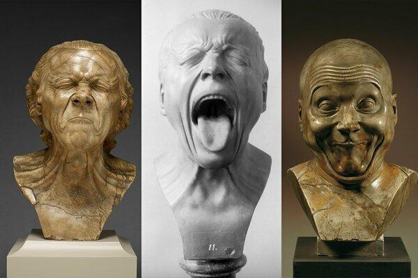 Как стать успешным скульптором? Сойти с ума, как вариант. Темпераментные бюсты, живущие своей жизнью (16фото)