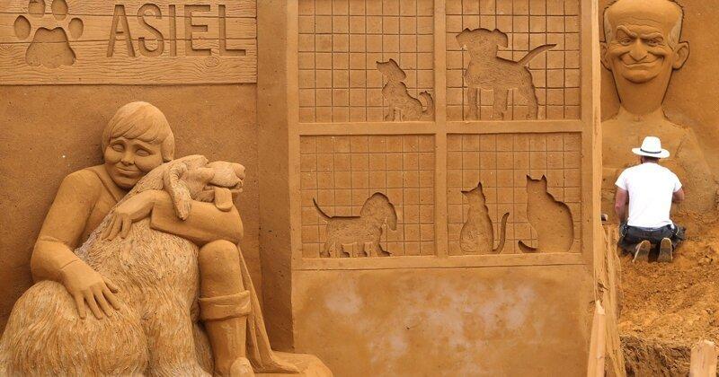 Самые запоминающиеся работы с фестиваля песчаных скульптур 2019 (12фото)