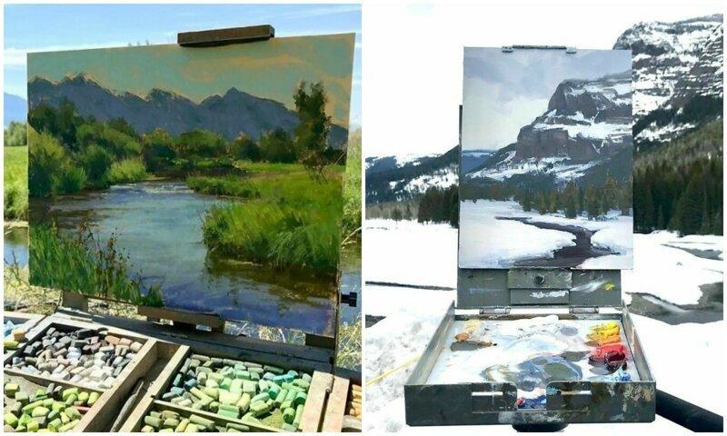 30 картин, обрамленных пейзажами природы (31фото)