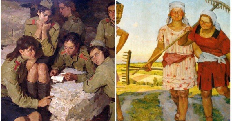 Женщины советской эпохи глазами художников (15фото)