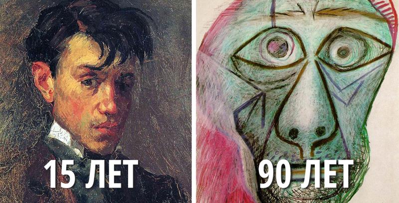 Как менялись с годами автопортреты Пикассо (15фото)