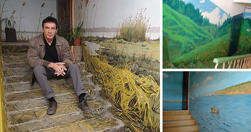 Художник из Астрахани превратил свой подъезд в галерею (13фото)