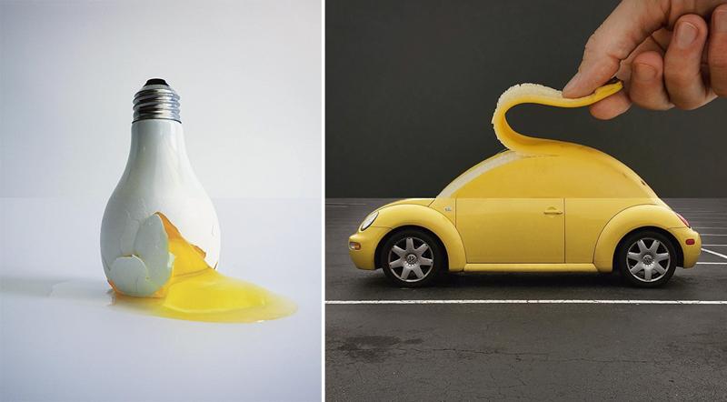 Новые работы юморного фотографа, который создает креативные фотоколлажи (43фото)