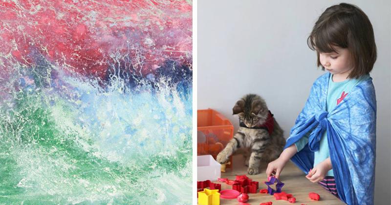 Потрясающие картины 6-летней девочки-аутиста (27фото+1видео)