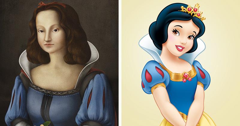 Интересный арт-проект: принцессы Диснея в эпоху Ренессанса (12фото)