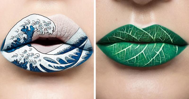 Визажист превращает свои губы в завораживающие произведения искусства (31фото)