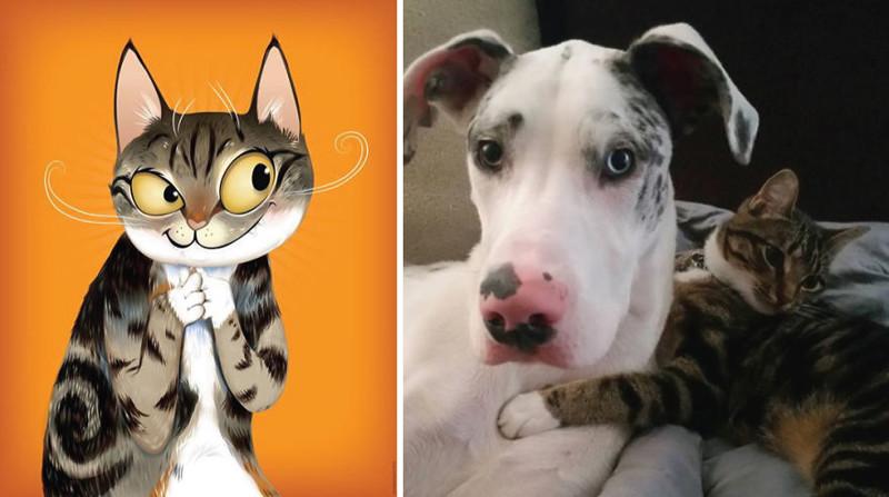 Портреты домашних животных написанные с учетом характера питомца (21фото)