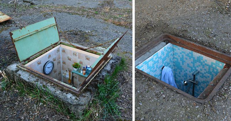 Потайные комнаты под люками на улицах Милана (6фото)