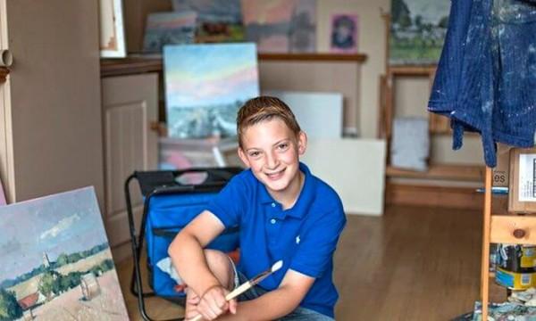 13-летний художник стал миллионером и получил прозвище «мини-Моне» (12фото)