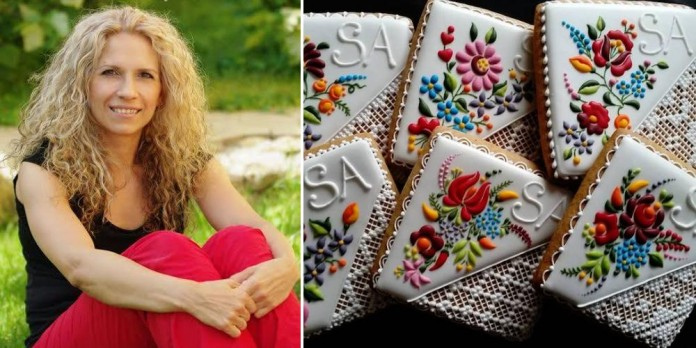 Девушка украшает печенье удивительно красивыми рисунками (8 фото)