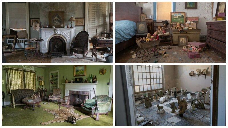 Таинственные и мрачные: руины заброшенных американских особняков (22фото)