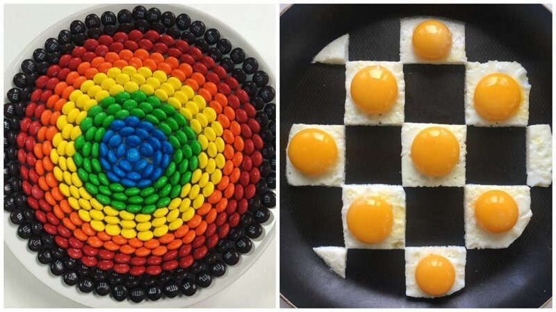 Еда как арт-объект: геометрические узоры от Адама Хиллмана (36фото)