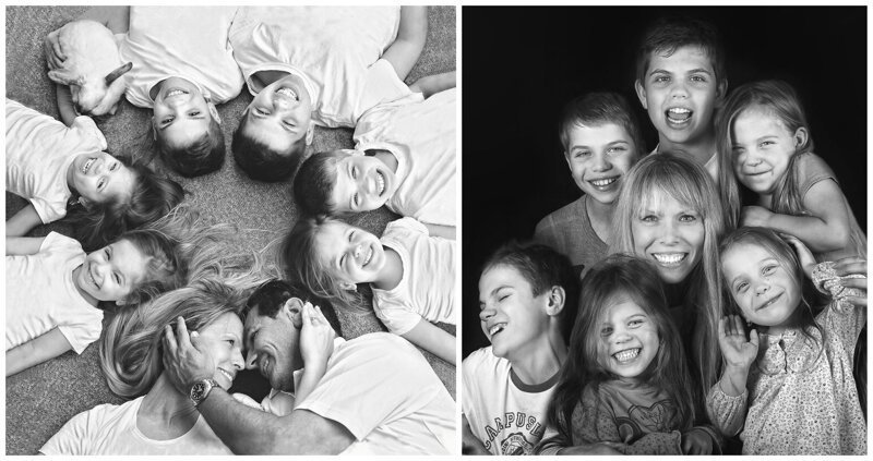 Фотоистория многодетной семьи: старшенький, близнецы и тройняшки (31фото)