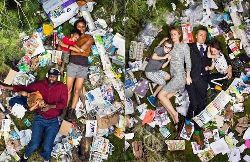 Сколько мусора производит человек всего за неделю (13фото)