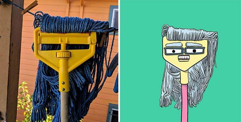 «Я вижу лица»: художник превращает гримасы вещей в забавные иллюстрации (22фото)