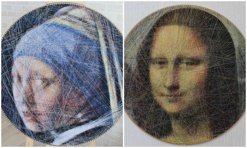 Программистка из Москвы создает картины из ниток с помощью алгоритма (21фото+1видео)