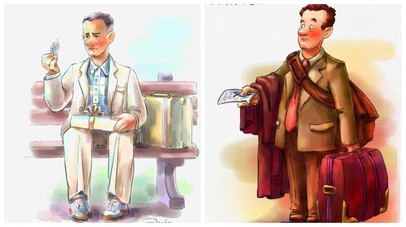 Как могли бы выглядеть известные герои Тома Хэнкса в образе мультперсонажей (14фото)