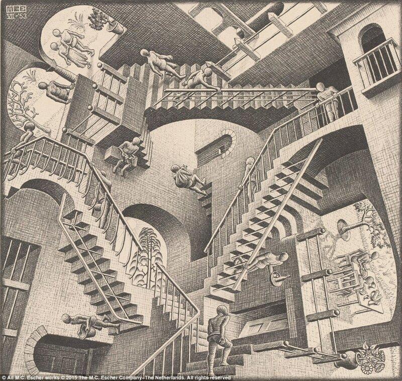 Оптические иллюзии от мастера имп-арта Маурица Эшера (13фото)