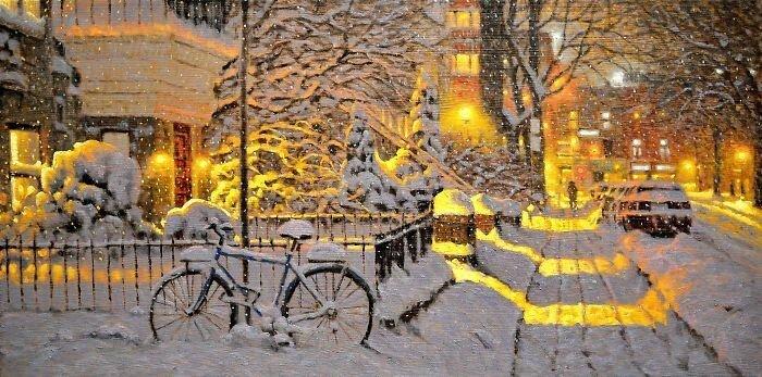 20 пейзажей канадского художника, которые заставят вас мечтать о зиме (20фото)