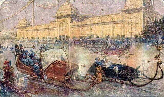 Как художники 1914 года представляли себе Москву XXIII века (7 фото)