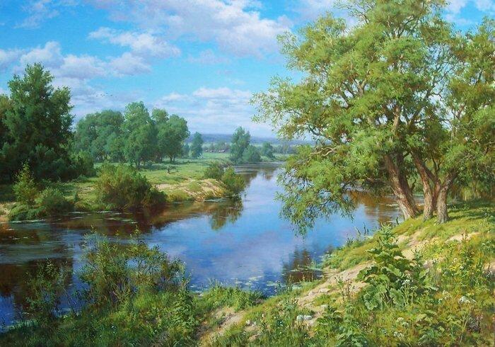 Чарующие пейзажи художника Басова Сергея (17фото)
