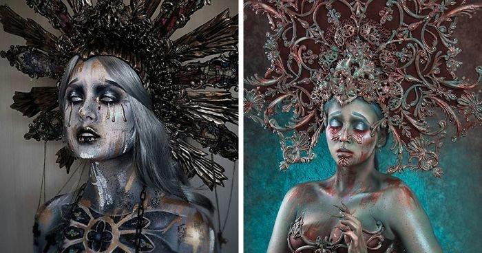 Девушка с 14 лет училась искусству визажа и стала известным гримером, создающим