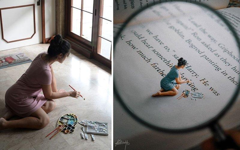Девушка превращает обычные фотографии в волшебные сцены и всё это при помощи фотошопа (20фото)