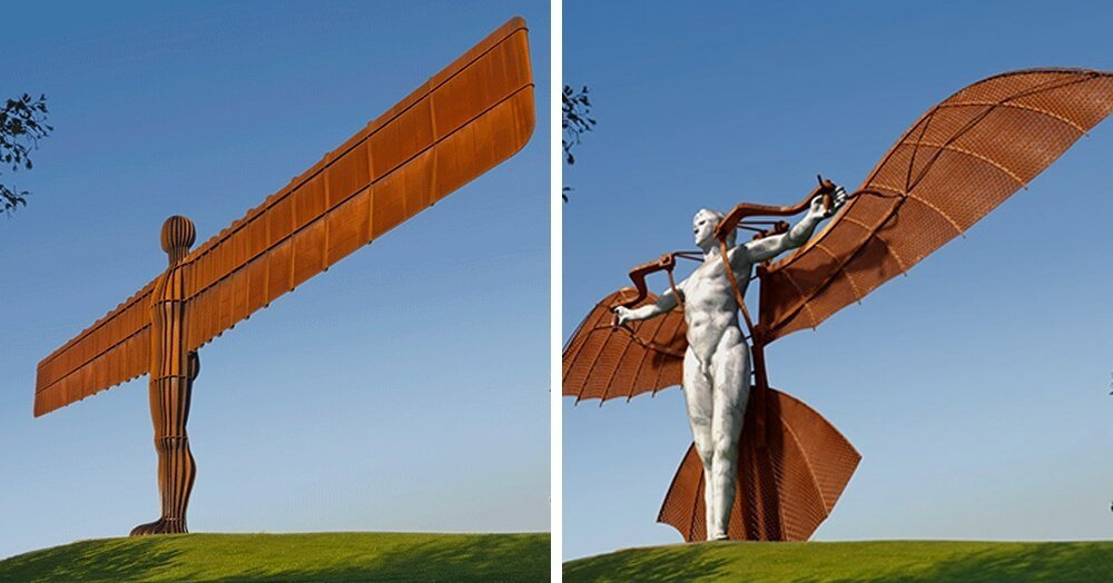 Дизайнеры показали, как выглядели бы британские достопримечательности, создай их известные художники (25фото+12гиф)