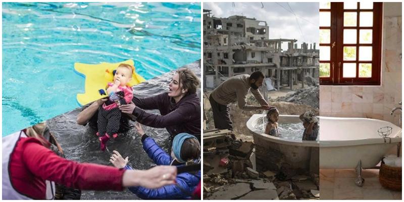 Турецкий художник наглядно показывает, как сильно различается война и мирное время (20фото)
