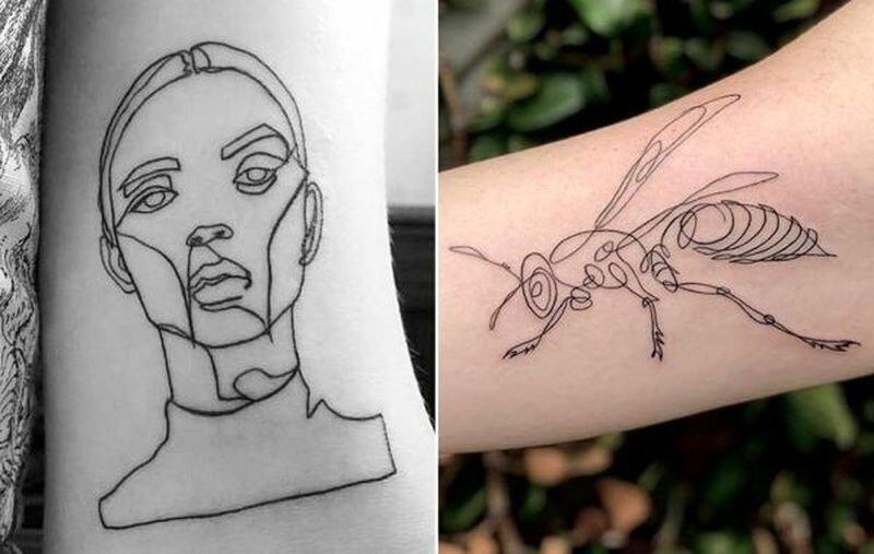 20 минималистичных татуировок, созданных при помощи одной непрерывной линии (21фото)